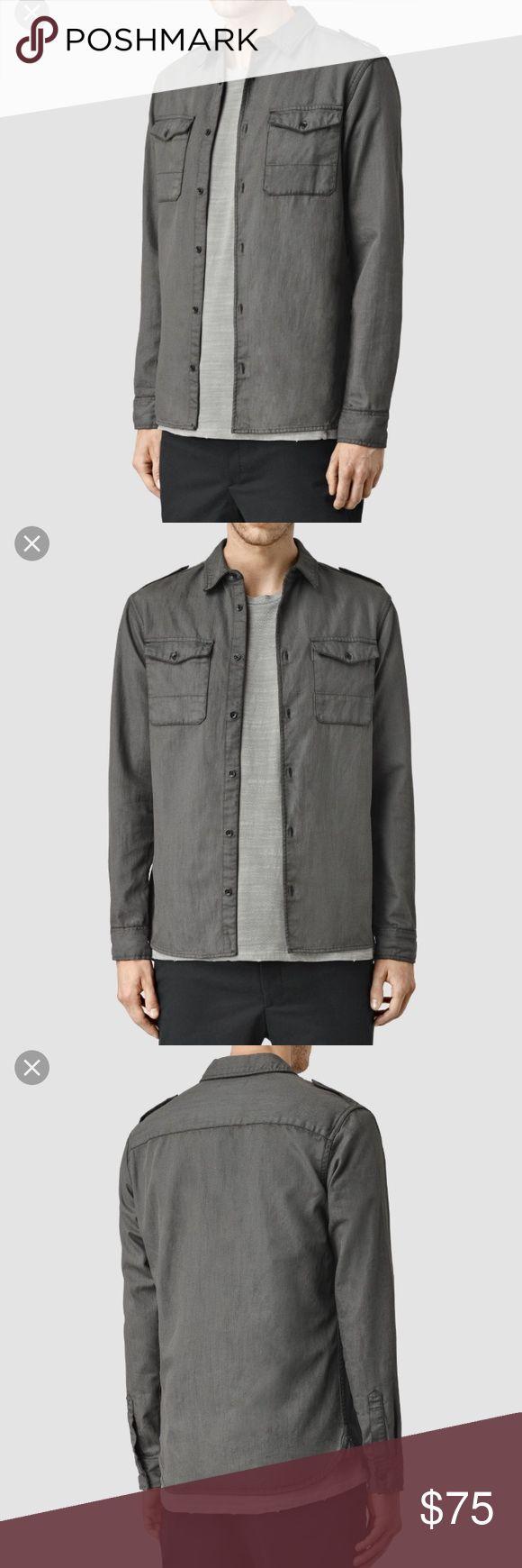 Allsaints men's long sleeve shirt! NWT grey long sleeve shirt. All Saints Shirts Casual Button Down Shirts