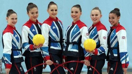 British Rhythmic Gymnastics team! Come on Team GB!