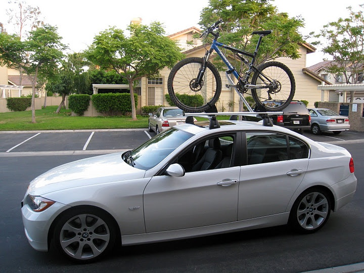 Thule bike carrier in action. Great way to safely and securely carry your bikes.