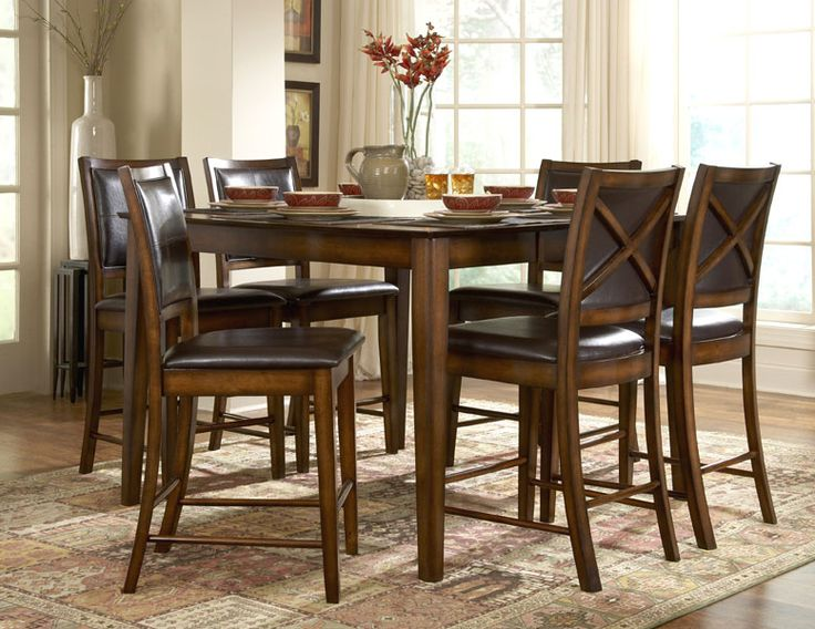Homelegance 727 36 Verona Counter Height Dining Table Set