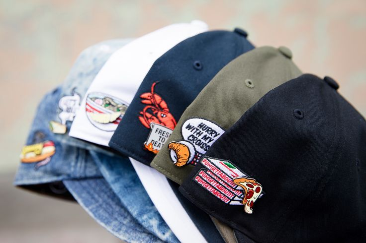 A capsule of hats dedicated to international food culture sees Pintrill and '47 combine pins and embroidery in fun new ways