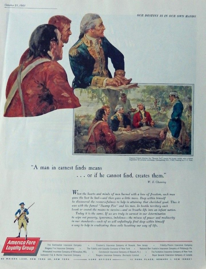 America Fore Loyalty Group Print ad General Francis Marion