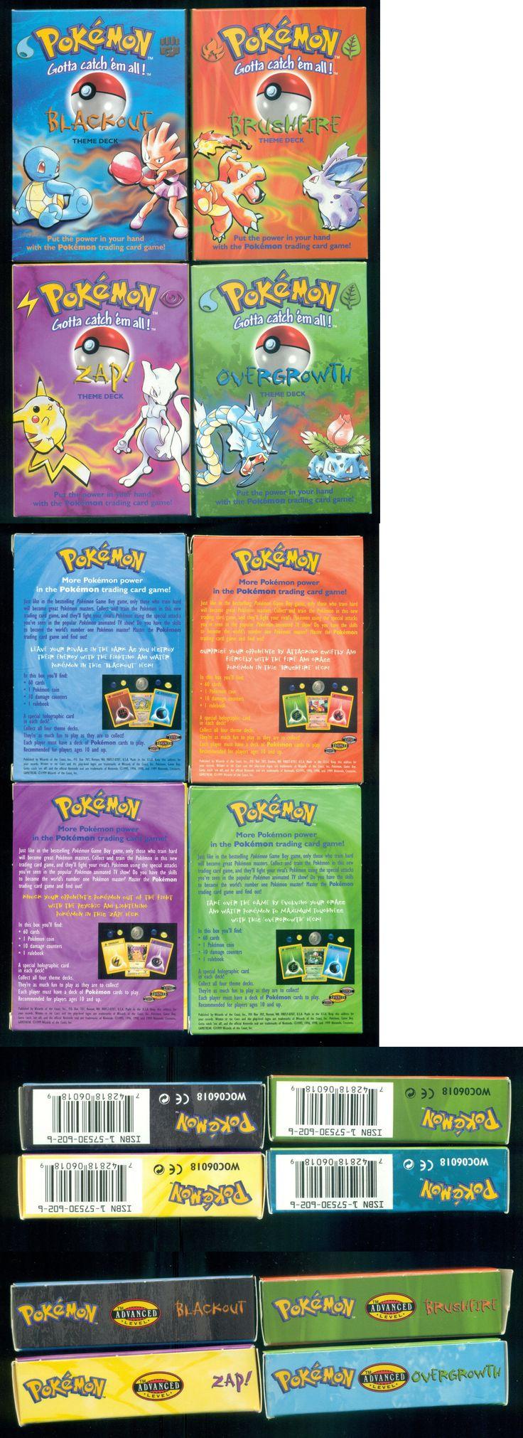 Pok mon Sealed Decks and Kits 183467: 1999 Pokemon Theme Deck Set - Zap-Brushfire-Overgrowth-Blackout Sealed Decks -> BUY IT NOW ONLY: $279.99 on eBay!