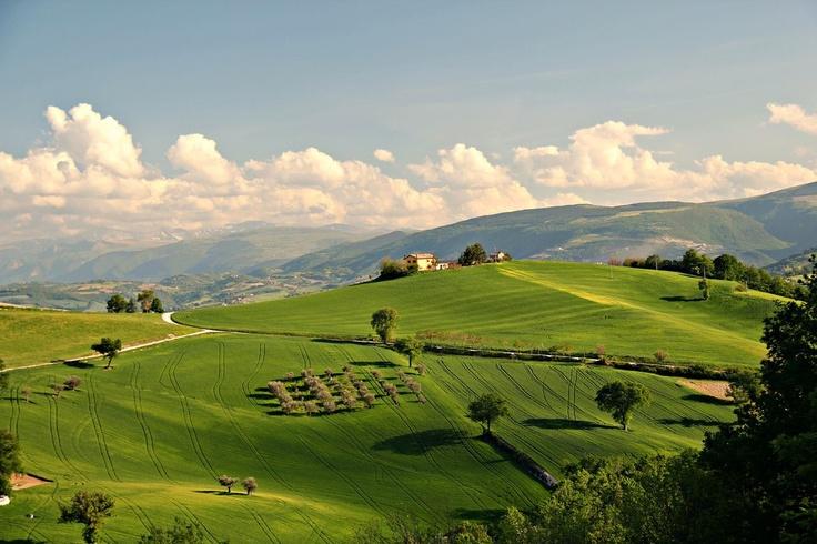 San Severino Marche. Vista monti Sibillini