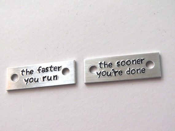 running shoe tag set shoe tags for runner running by QuipsAndGrins