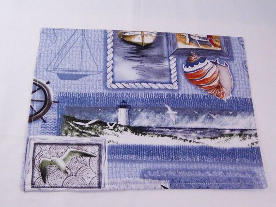 Nautical Placemats Snack Mats Mini by LakesideQuiltsMaine on Etsy