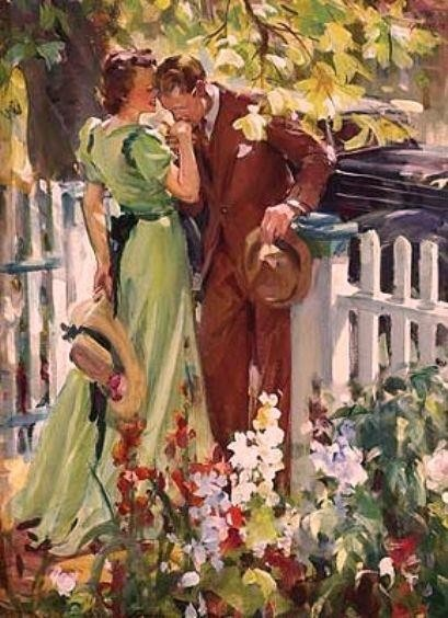 111 best vintage romance art images on pinterest romance art man kissing womans hand by john gannam find this pin and more on vintage romance art sciox Gallery