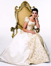 Anne Hathaway as Mia Thermopolis in The Princess Diaries movie.
