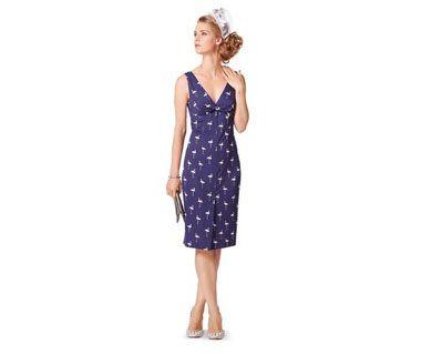 Выкройка - платье с вырезом лодочкой