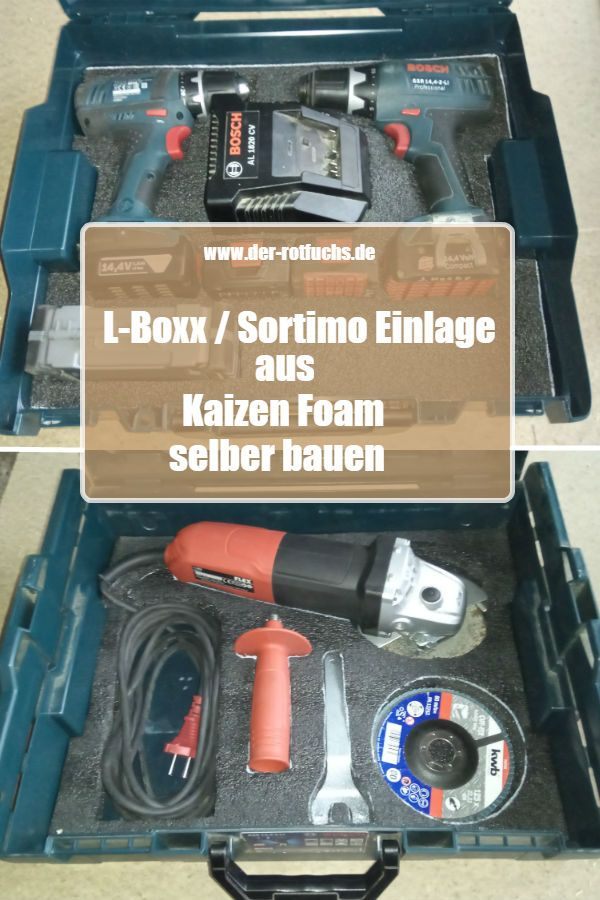 L Boxx Sortimo Einlage Aus Kaizen Foam Selber Bauen Selber Bauen Werkzeugkoffer Zen