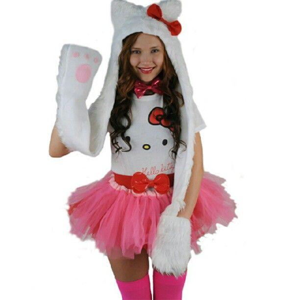 Hello kitty #halloween #costume #hellokitty #kittyears #fluffy http://www.sidecca.com/blog/halloween-headquarters/