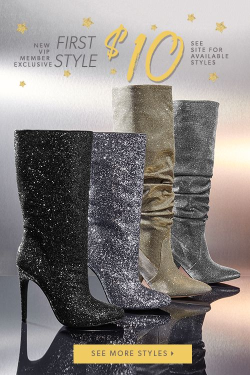 HOLIDAY SEASON IS HERE! For a limited time, New VIP's can get their first pair for as low as $10! Revamp your shoe closet and shop these and hundreds of other adorable styles. Just take our Style Quiz to get started and you'll be whisked away to your own personal style boutique. Hurry, this amazing offer won't last long!