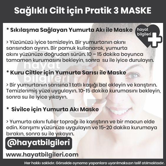 Cilt Bakımı için 3 Maske Tarifi