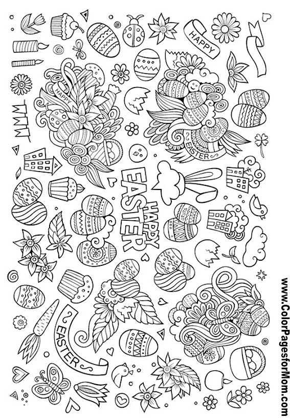 Groep 4 Kleurplaat Easter Doodles Coloring Page 103 Coloring Pages Doodle