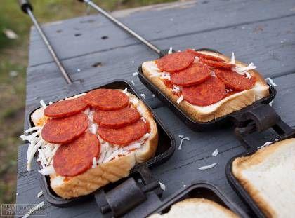 Campfire Pepperoni Pizza