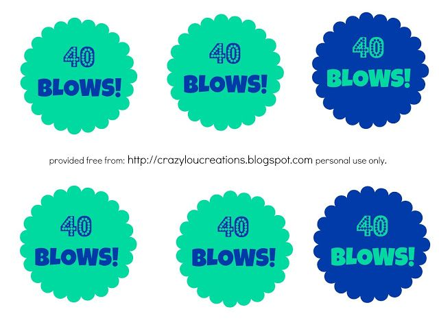 FREE !! 40 Blows Printable Tags