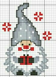 Gnome cross stitch. - Gnome that Roams instead of Elf on a Shelf