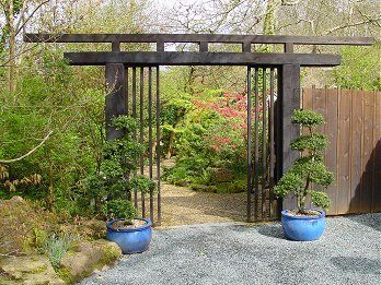 japanese gates and entrances | Torii Gate The Japanese Garden, St.Mawgan | Gardens in Cornwall
