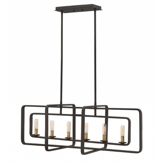 """Hinkley Lighting Quentin 6 Light Candle Chandelier - 36""""w  - $398.95 trade"""