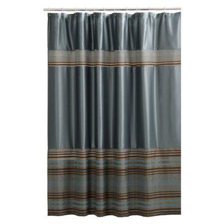 shower curtain blue brown for the home pinterest. Black Bedroom Furniture Sets. Home Design Ideas