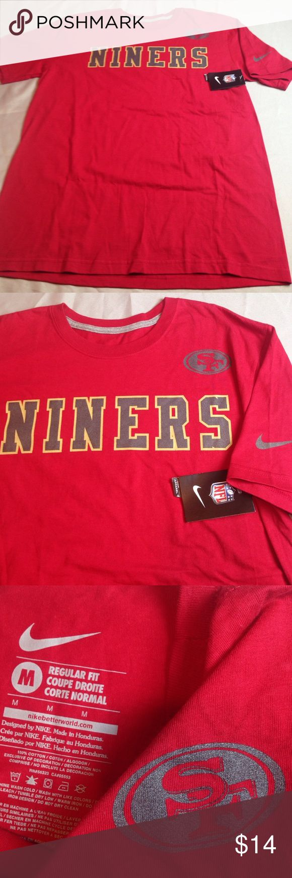 NFL SAN FRANCISCO NINERS FOOTBALL TEAM NIKE TOP NFL SAN FRANCISCO NINERS FOOTBALL TEAM NIKE TOP TEE NEW WITH TAGS EXCELLENT SIZE M MEN Nike Shirts Tees - Short Sleeve