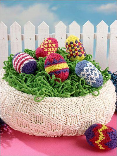 11 best easter knitted baskets images on pinterest knit basket knitting holiday seasonal patterns easter patterns easter basket eggs negle Choice Image
