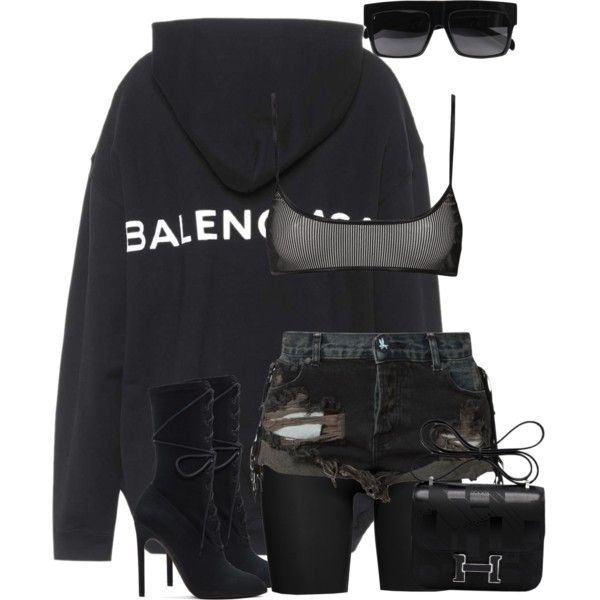 Untitled #1797 by styledbyjovonxo on Polyvore featuring polyvore, Balenciaga, OneTeaspoon, SPANX, Hermès, Yeezy by Kanye West, fashion, style and clothing