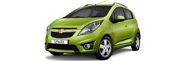 Group A - Spark Chevrolet, 1000cc, manual, 4 seats, 5 doors, A/C, radio, CD player. Economy car rental in Paros