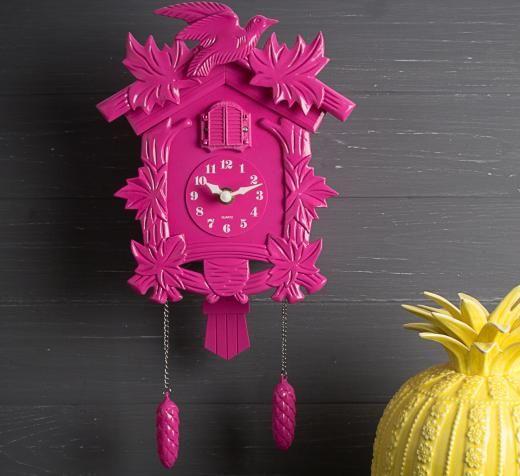 Bright Pink Cuckoo Clock