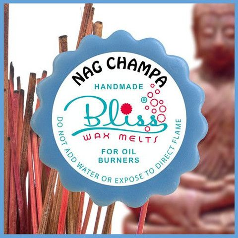 The spellbinding popular scent of nag champa - commonly found in incense and now offered in a wax melt form, has a unique combination of a divinely scented frangipani and earthy sandalwood - sending your mood straight into harmony
