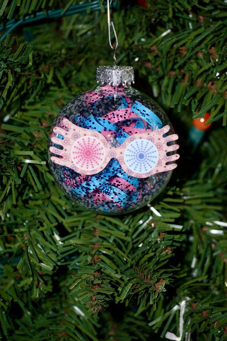 Harry Potter Christmas Ornament Set Spectrespecs, Chocolate Frog,  Butterbeer, Felix Felicis, Deathly