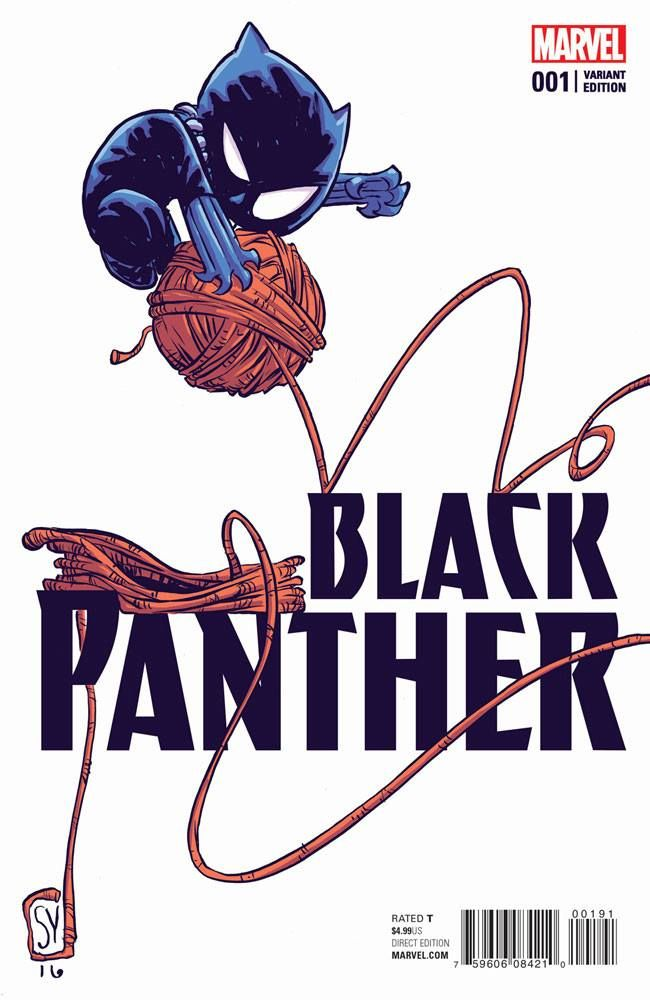 Black Panther #1 variant cover by Skottie Young *