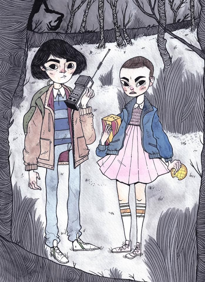 Heather Mahler depiction of Mike and Eleven