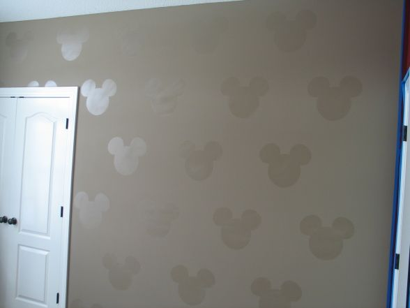 mickey mouse ears on the wall - guest bathroom but in a different color