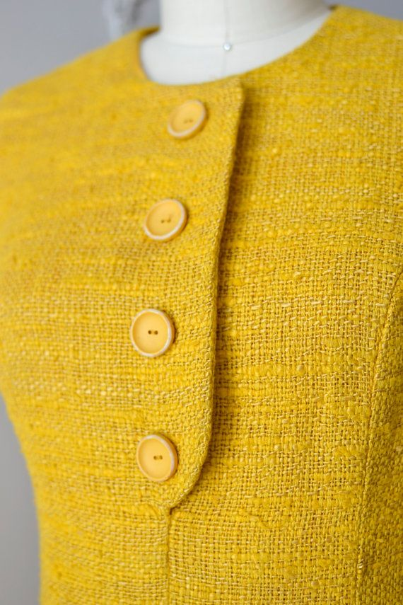 1960s dress / mustard shift dress / Mad about by DearGolden