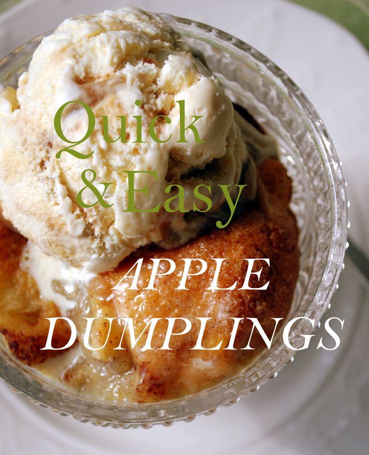 Quick & Easy Apple Dumplings