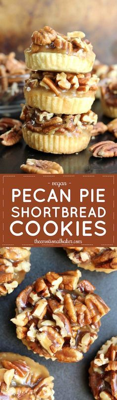 Have pecan pie in cookie form! These Pecan Pie Shortbread Cookies ...