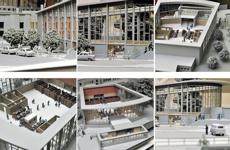 Tränenpalast und Bahnhof Friedrichstrasse Berlin Modell