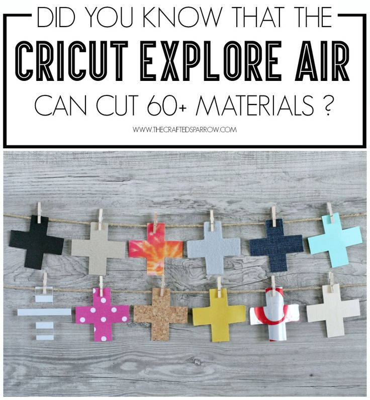 Have you wondered about the Cricut Explore Air: What Can It Cut? Come see just a small sampling of the 60+ materials it can cut.