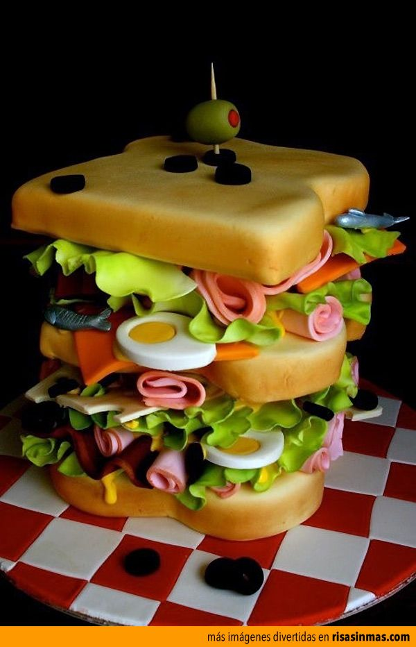 Tartas originales: Tarta sandwich.