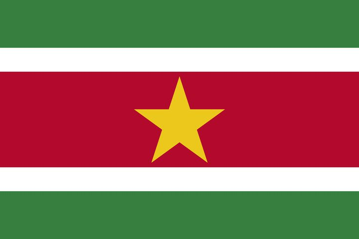 Vessels sailing under the Suriname Country Flag are required to have on board this flag as part of flag state requirements that derive from maritime regulations in the International Code of Signals an