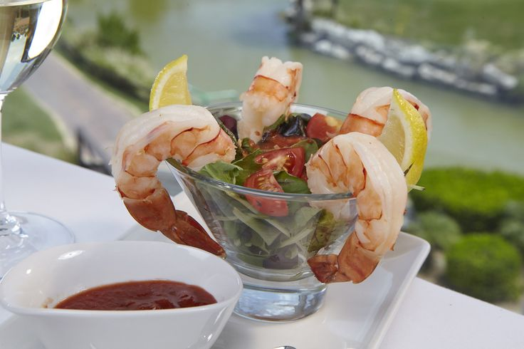 Windows Shrimp Cocktail - chilled jumbo shrimp, coconut mango island cocktail sauce
