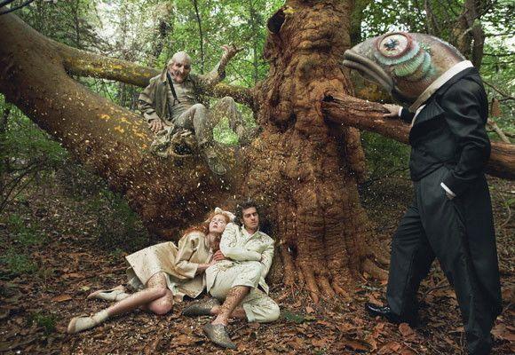 """Фотосессия-фантазия на тему сказки """"Гензель и Гретель"""", Лили Коул и Эндрю Гарфилд. Annie Leibovitz"""