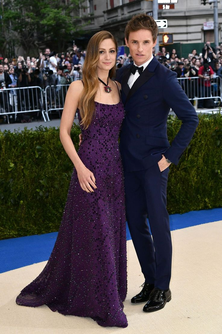 Eddie Redmayne, and his wife - she's dressed in Prada | Met Ball (2017)