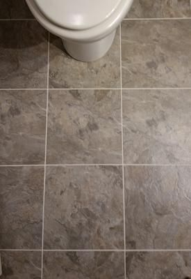 Shop Armstrong Crescendo 12 In X 12 In Groutable French Gray Peel And. Rv  BathroomVinyl TilesBath ...