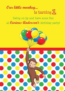 Curious George 1st Birthday- Park Talk Printables