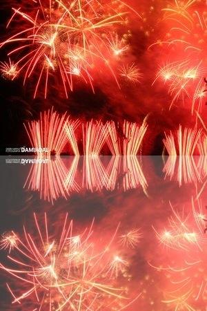 Fireworks in Los Realejos 2012 . Tenerife .Fuegos Artificiales Calle del Medio Los Realejos 2012