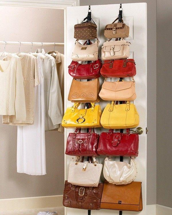 Rangement sac à main fixation portes  http://www.homelisty.com/rangement-sac-a-main/
