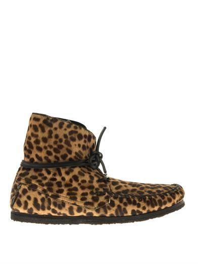 Flavie calf-hair moccasin ankle boots | Isabel Marant | FALL 14