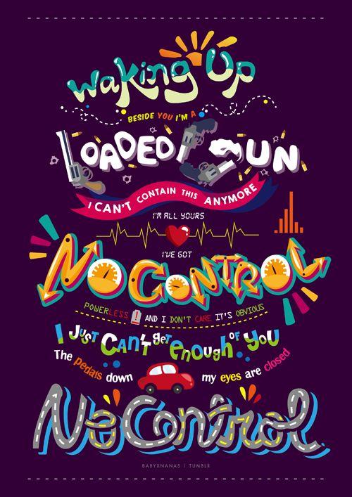 Four Lyrics Posters→ No Control